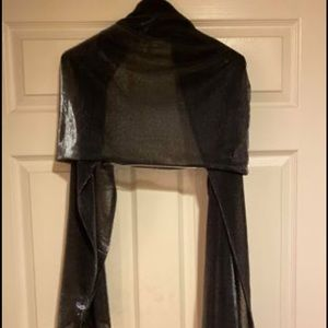 Sheer shawl or wrap for holiday party. Shimmer